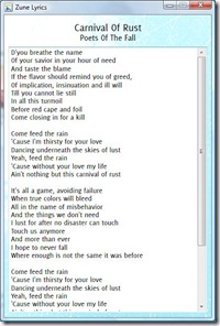 zunelyrics